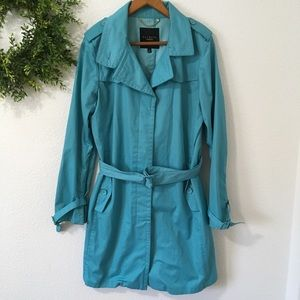 Talbots Blue Trench Coat